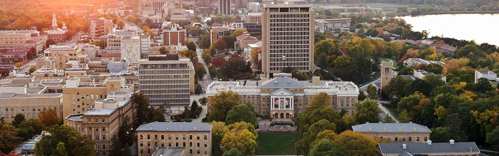 Ariel view of the UW-Madison campus